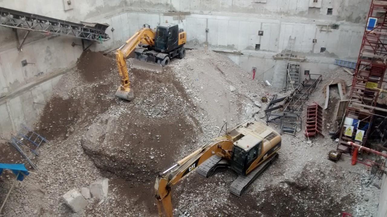 Excavación con faja transportadora